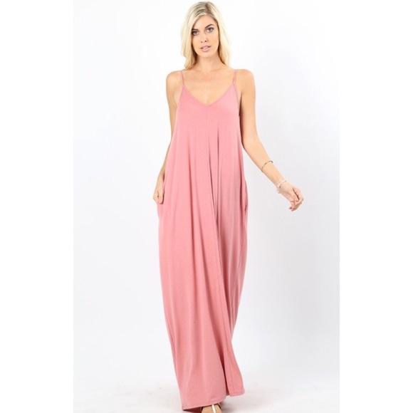bfe168e3e6 Dusty Rose Cocoon Oversized Maxi Dress S M L XL